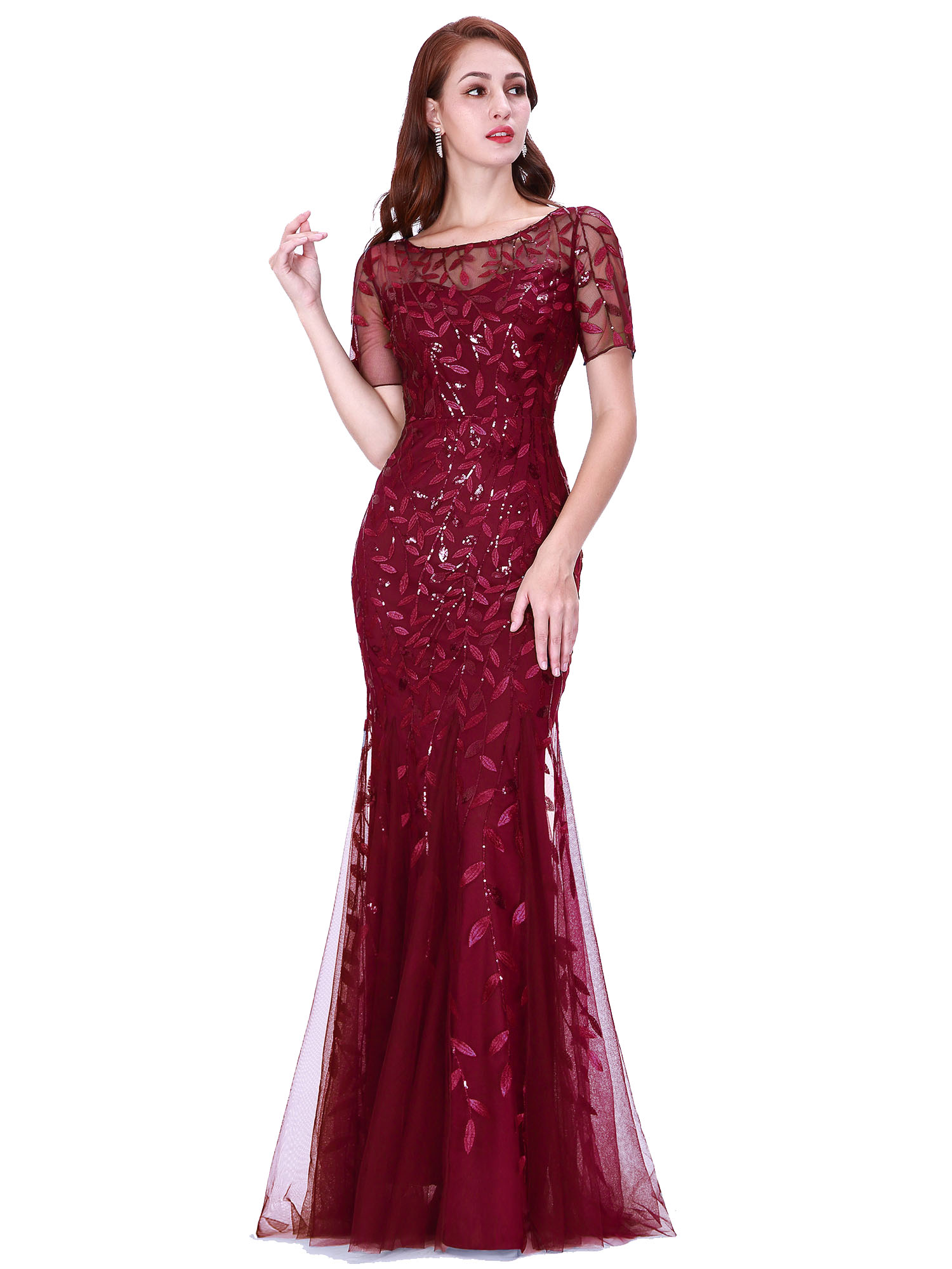 Ever-pretty-Plus-Size-Sequins-Bridesmaid-Dresses-Mermaid-Evening-Party-Prom-Gown thumbnail 14