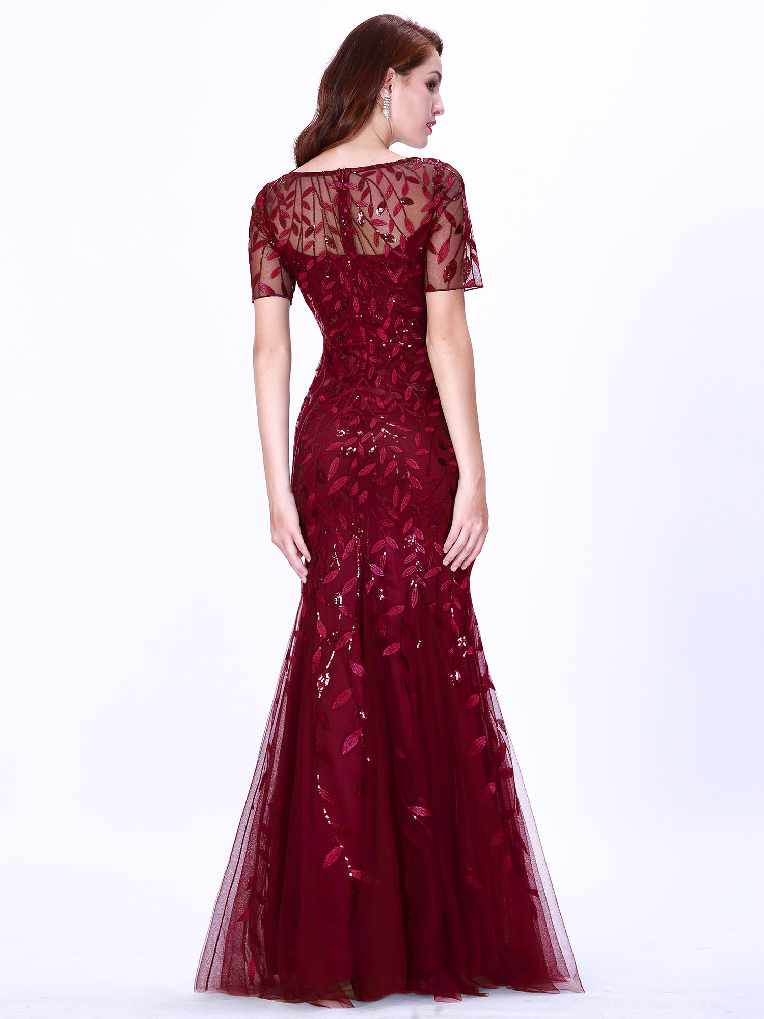 Ever-pretty-Plus-Size-Sequins-Bridesmaid-Dresses-Mermaid-Evening-Party-Prom-Gown thumbnail 15