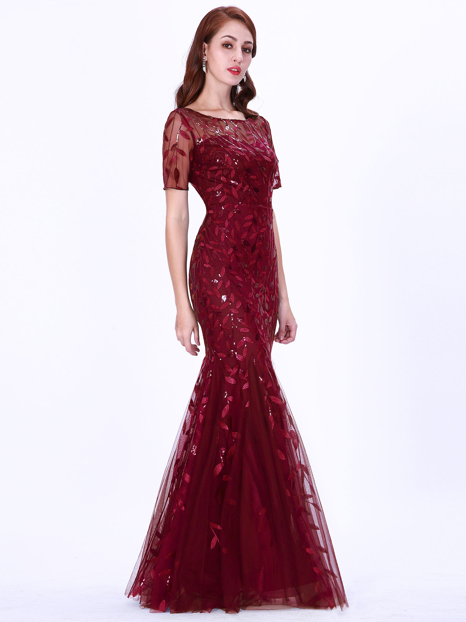 Ever-pretty-Plus-Size-Sequins-Bridesmaid-Dresses-Mermaid-Evening-Party-Prom-Gown thumbnail 16