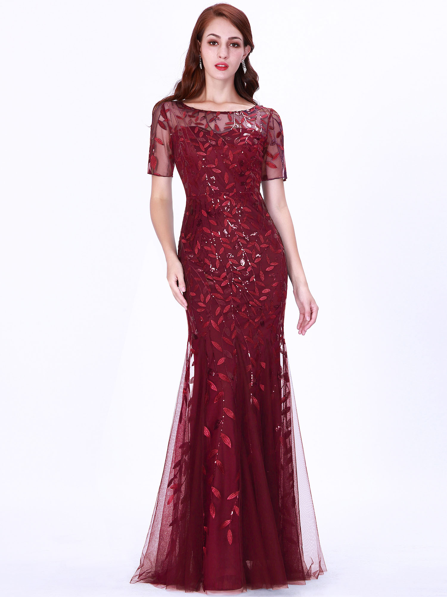 Ever-pretty-Plus-Size-Sequins-Bridesmaid-Dresses-Mermaid-Evening-Party-Prom-Gown thumbnail 17