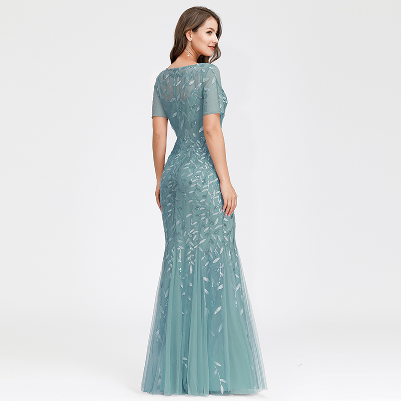 Ever-pretty-Plus-Size-Sequins-Bridesmaid-Dresses-Mermaid-Evening-Party-Prom-Gown thumbnail 20