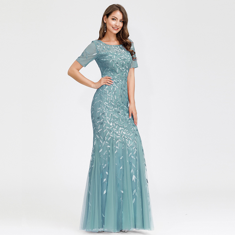 Ever-pretty-Plus-Size-Sequins-Bridesmaid-Dresses-Mermaid-Evening-Party-Prom-Gown thumbnail 21