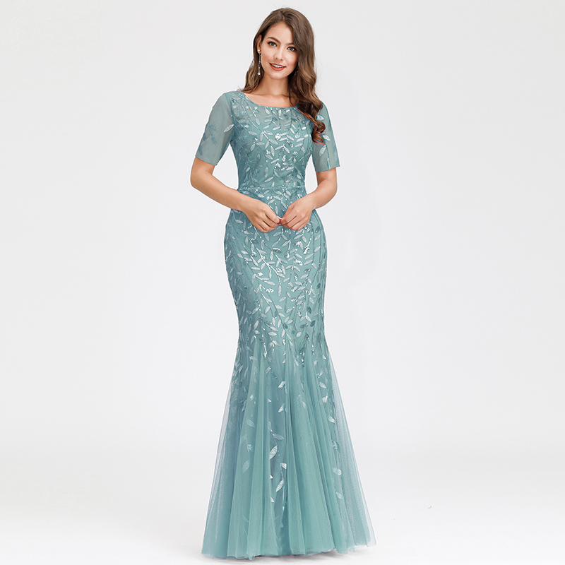 Ever-pretty-Plus-Size-Sequins-Bridesmaid-Dresses-Mermaid-Evening-Party-Prom-Gown thumbnail 22