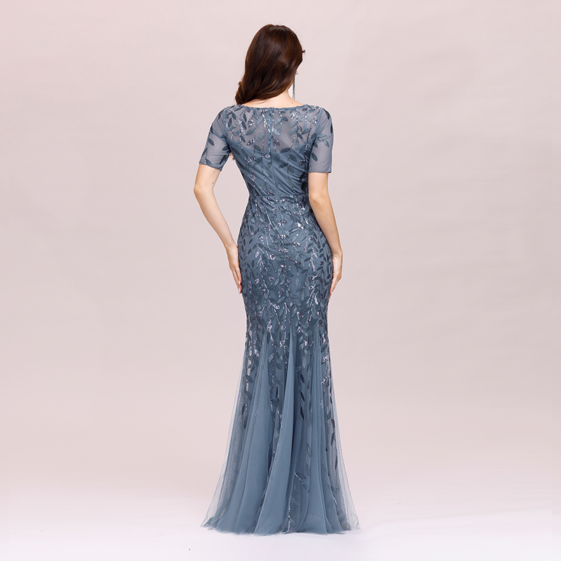 Ever-pretty-Plus-Size-Sequins-Bridesmaid-Dresses-Mermaid-Evening-Party-Prom-Gown thumbnail 25