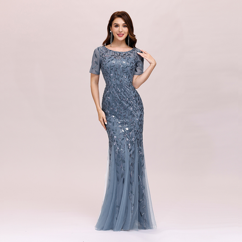 Ever-pretty-Plus-Size-Sequins-Bridesmaid-Dresses-Mermaid-Evening-Party-Prom-Gown thumbnail 27