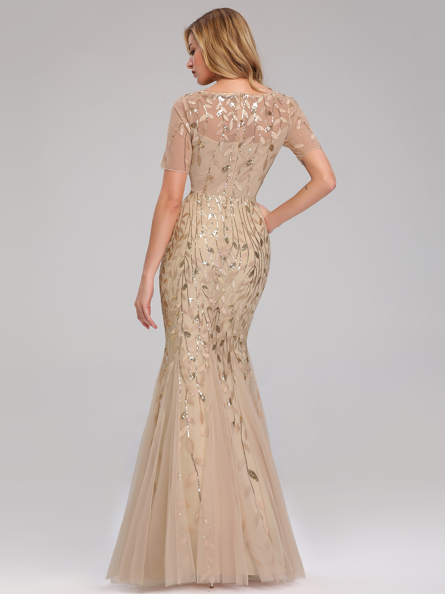 Ever-pretty-Plus-Size-Sequins-Bridesmaid-Dresses-Mermaid-Evening-Party-Prom-Gown thumbnail 31