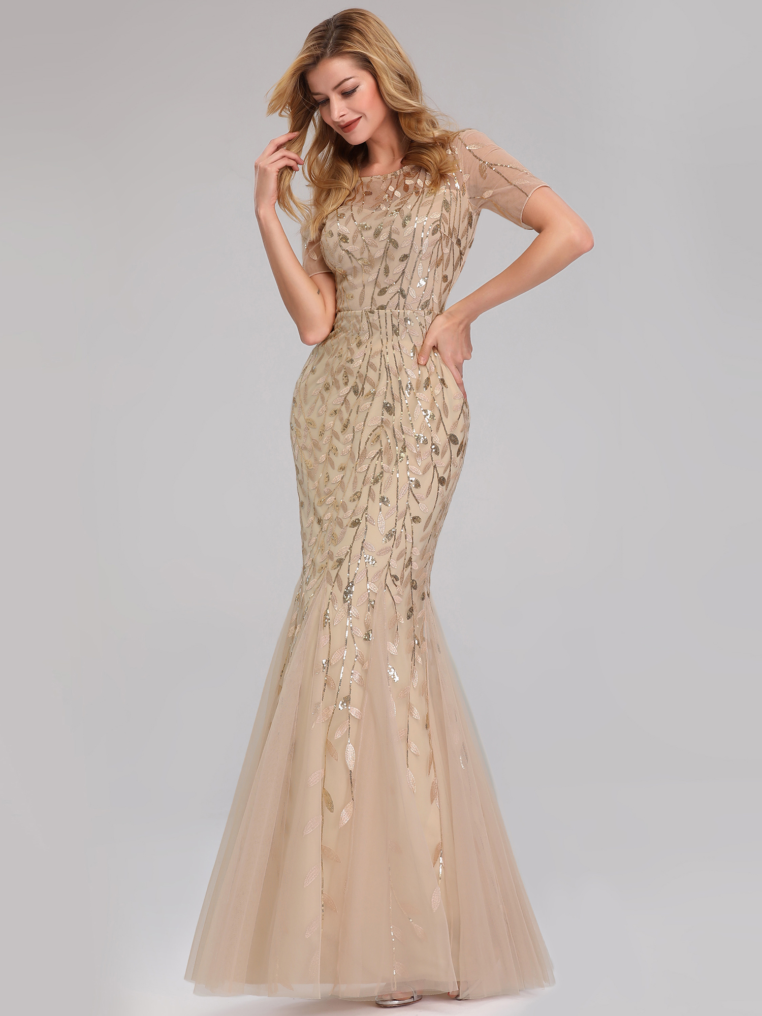 Ever-pretty-Plus-Size-Sequins-Bridesmaid-Dresses-Mermaid-Evening-Party-Prom-Gown thumbnail 33