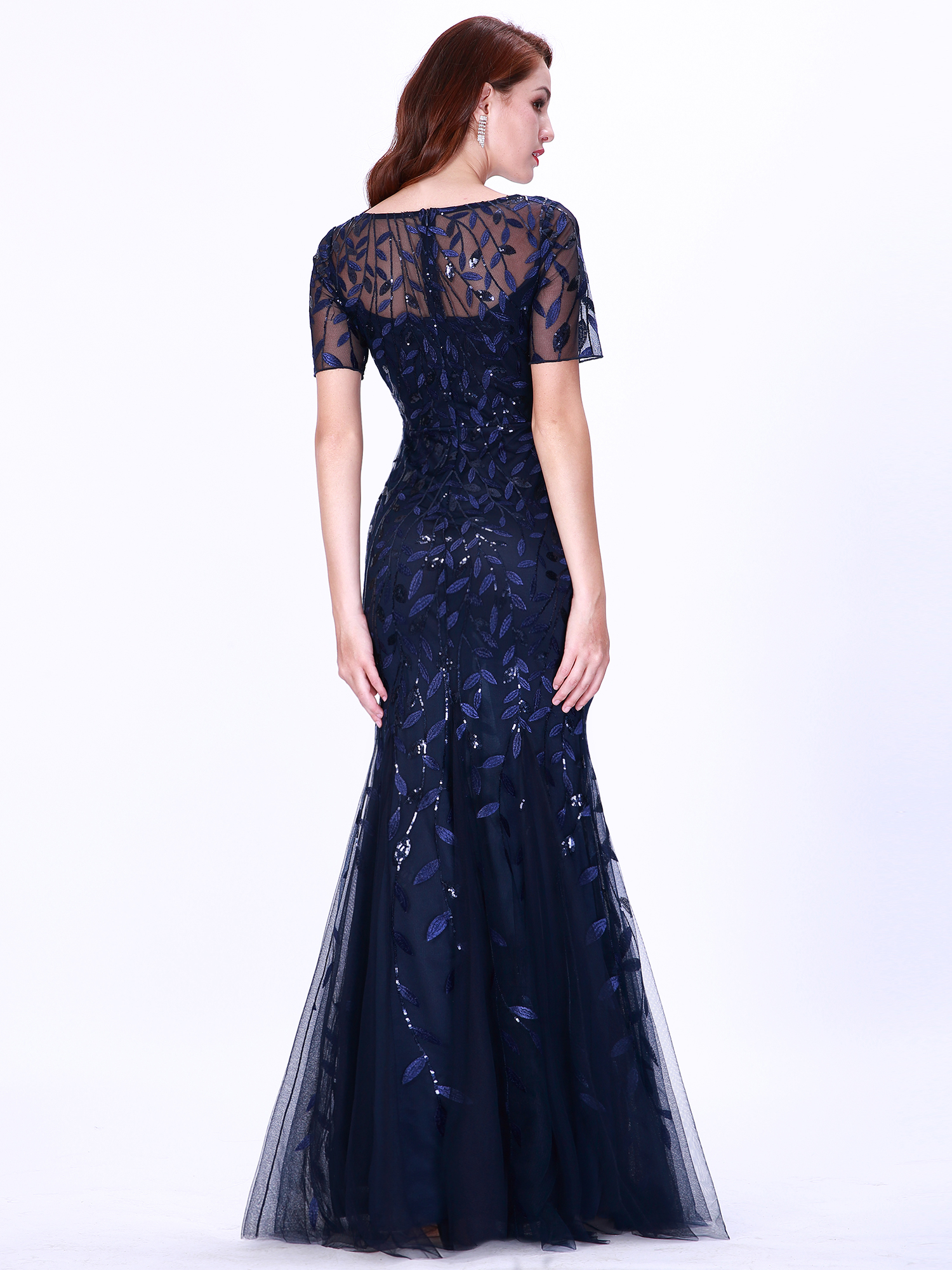 Ever-pretty-Plus-Size-Sequins-Bridesmaid-Dresses-Mermaid-Evening-Party-Prom-Gown thumbnail 36