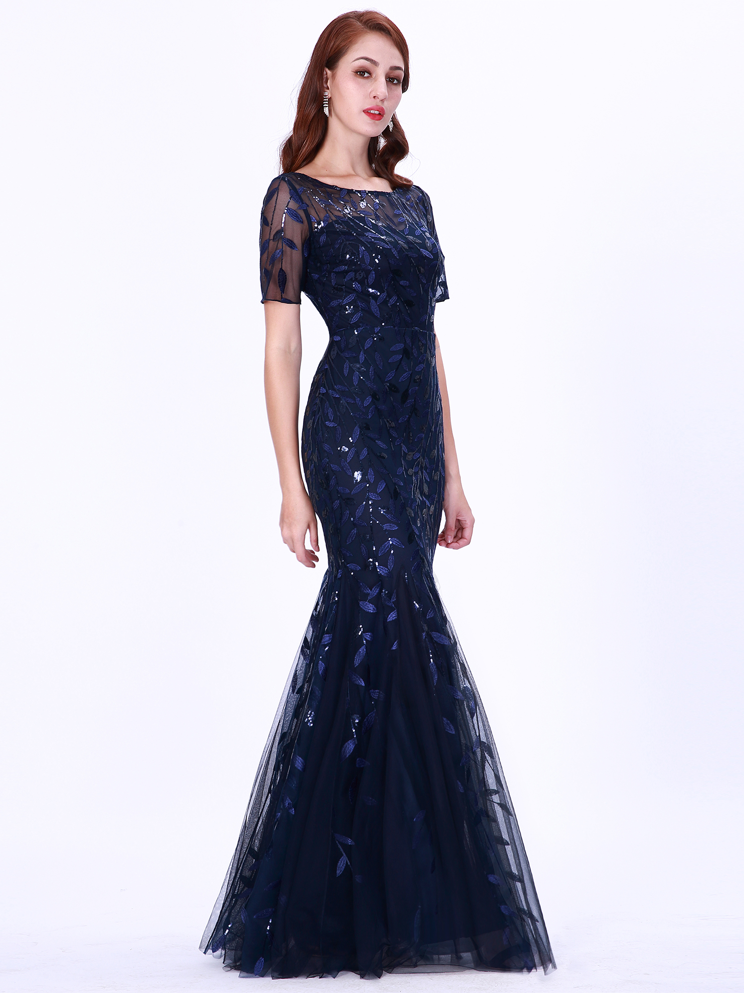 Ever-pretty-Plus-Size-Sequins-Bridesmaid-Dresses-Mermaid-Evening-Party-Prom-Gown thumbnail 37