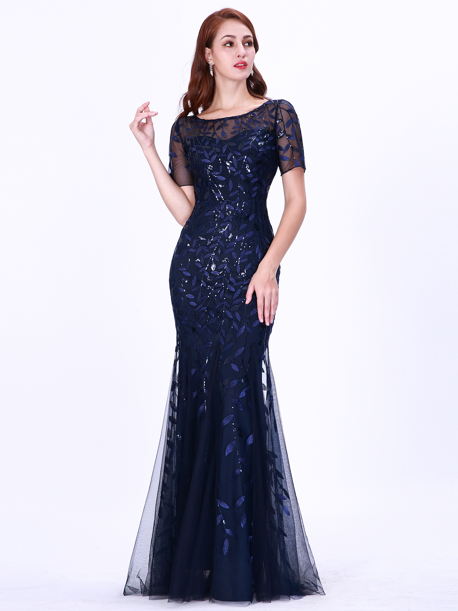 Ever-pretty-Plus-Size-Sequins-Bridesmaid-Dresses-Mermaid-Evening-Party-Prom-Gown thumbnail 38