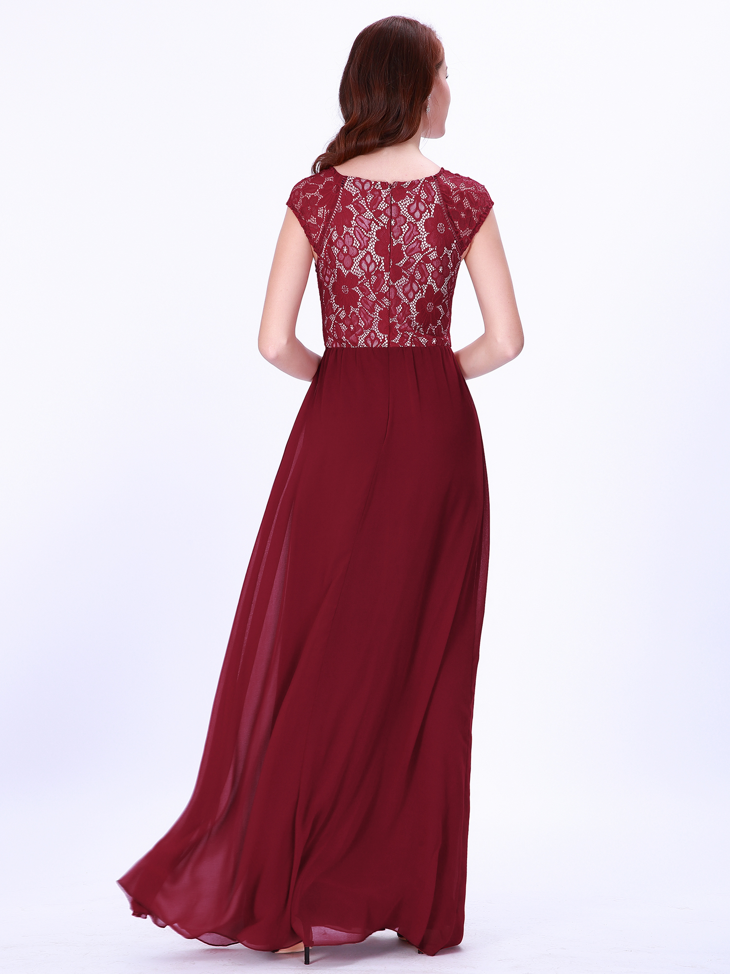 b6ca3961354de Ever-pretty Long Burgundy Formal Evening Prom Gowns Sleeveless ...