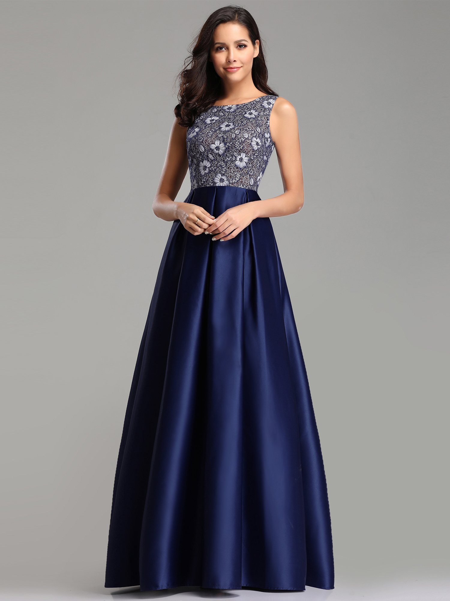 656b90eb5a063 Ever-Pretty Womens A Line Party Dress Lace Long Formal Evening ...