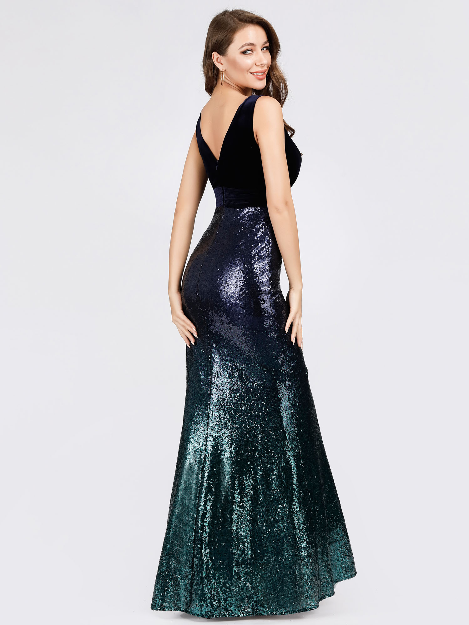 Ever-Pretty-Navy-Cocktail-Bodycon-Dress-Sequins-Mermaid-Wedding-Prom-Gown-07767 thumbnail 7