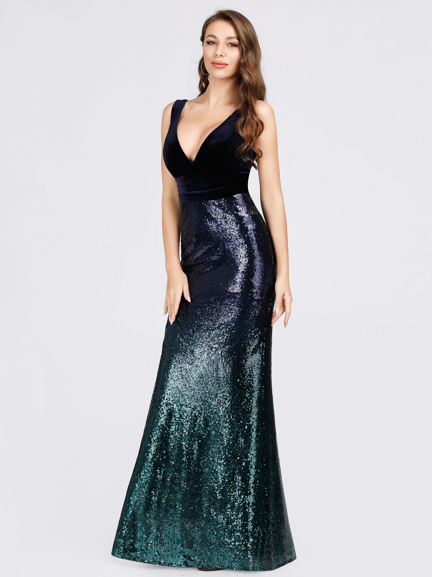Ever-Pretty-Navy-Cocktail-Bodycon-Dress-Sequins-Mermaid-Wedding-Prom-Gown-07767 thumbnail 8