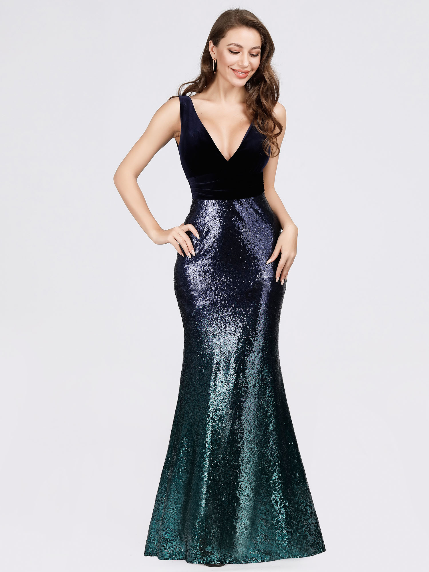 Ever-Pretty-Navy-Cocktail-Bodycon-Dress-Sequins-Mermaid-Wedding-Prom-Gown-07767 thumbnail 9