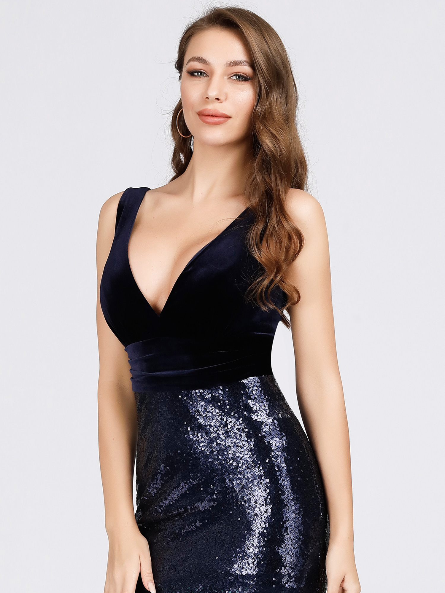 Ever-Pretty-Navy-Cocktail-Bodycon-Dress-Sequins-Mermaid-Wedding-Prom-Gown-07767 thumbnail 10