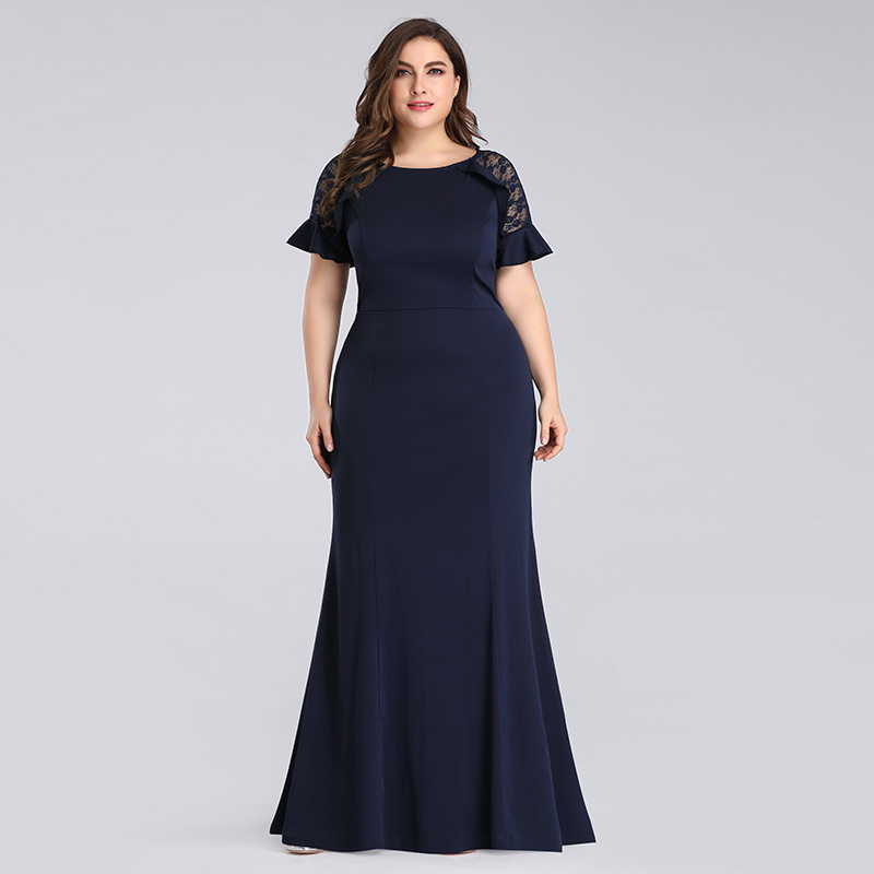 Details about Ever-pretty Plus Size Navy Blue Maxi Dress Fishtail Evening  Ball Gown Dress 7768