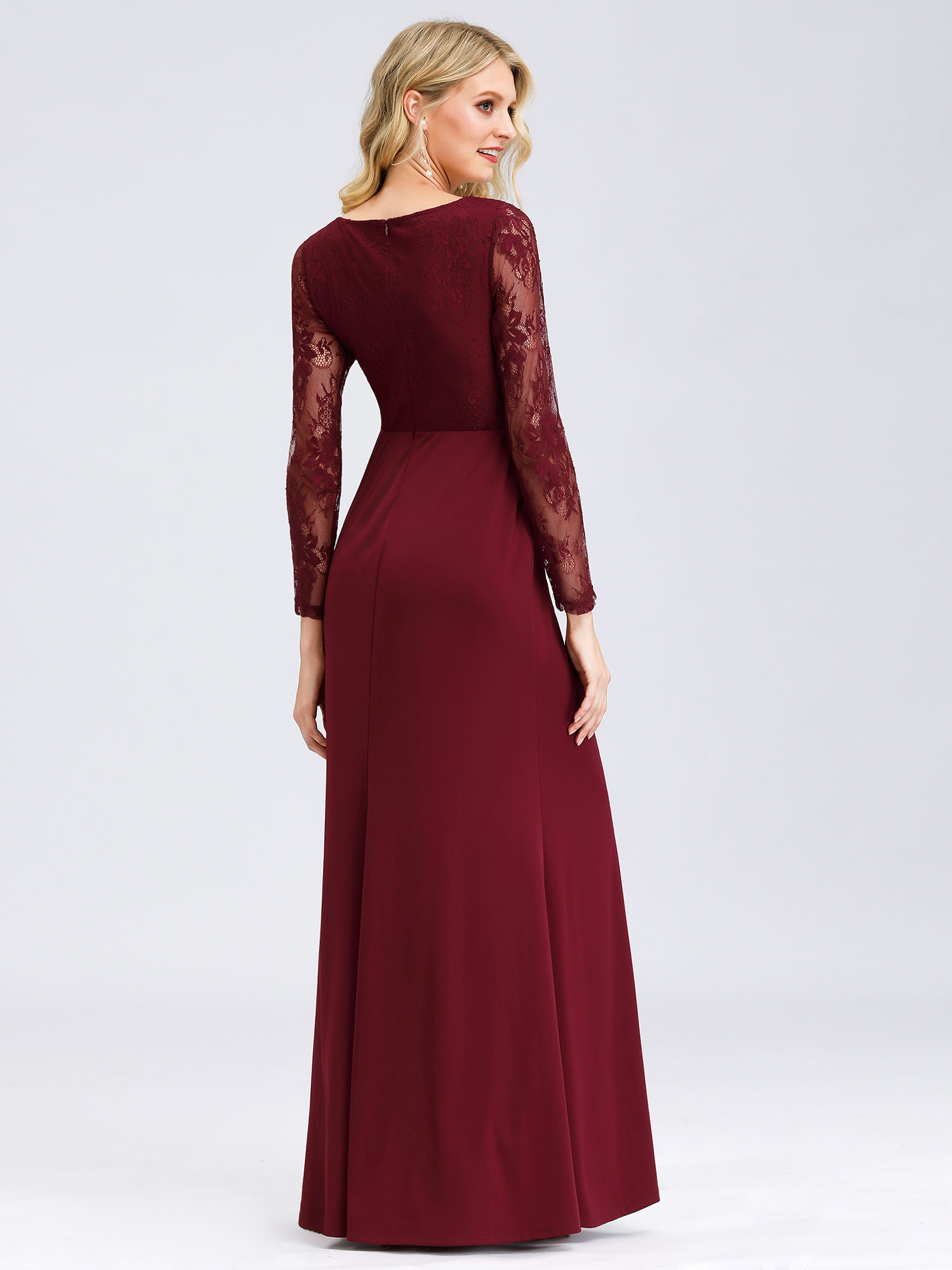 Ever-Pretty-US-Lace-Sleeve-Long-Evening-Dress-Mother-Of-Bride-Mermaid-Prom-Gowns thumbnail 8