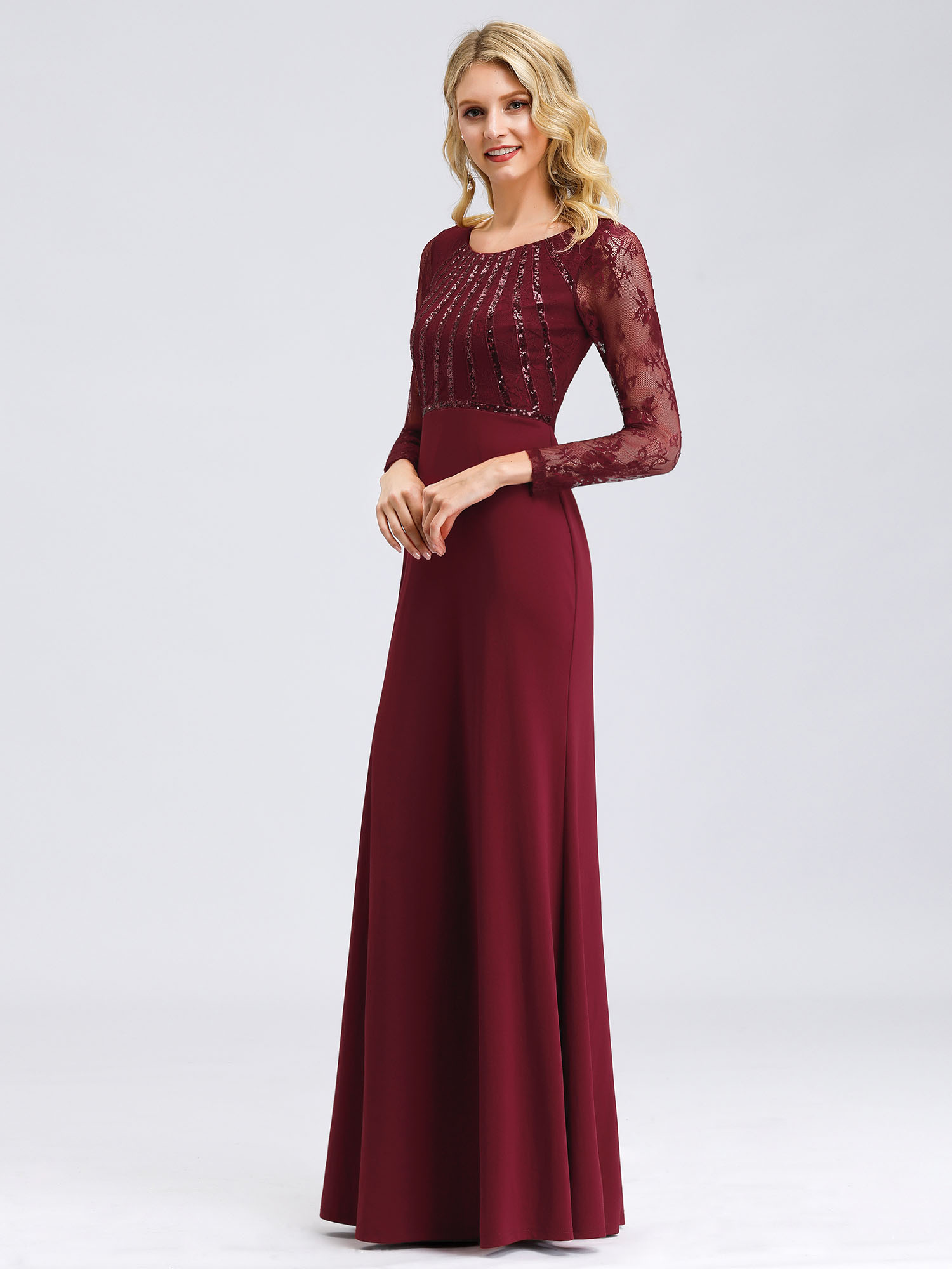 Ever-Pretty-US-Lace-Sleeve-Long-Evening-Dress-Mother-Of-Bride-Mermaid-Prom-Gowns thumbnail 9