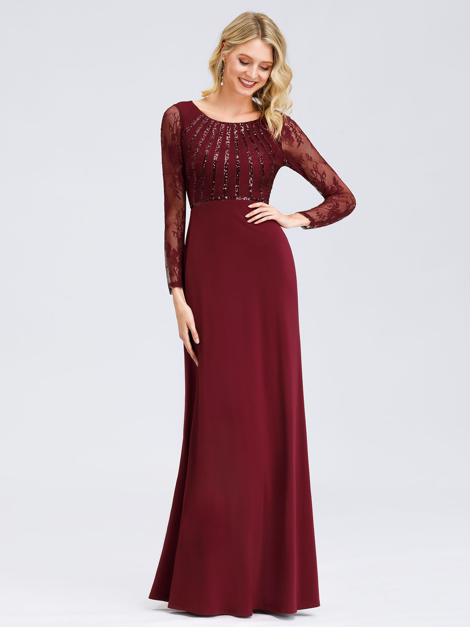 Ever-Pretty-US-Lace-Sleeve-Long-Evening-Dress-Mother-Of-Bride-Mermaid-Prom-Gowns thumbnail 10