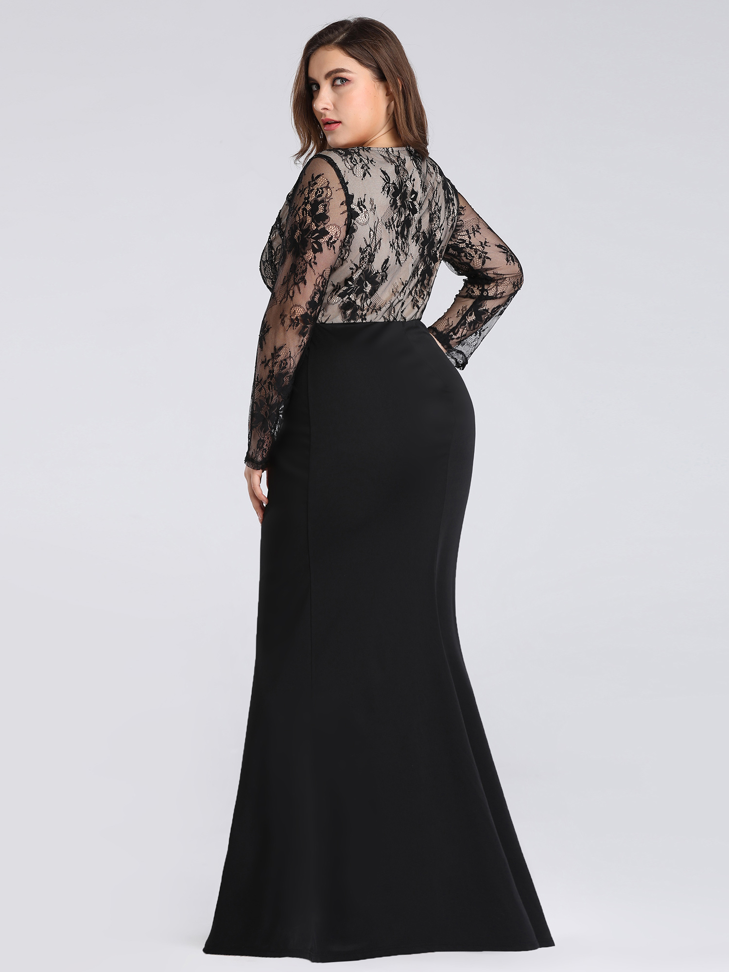 Ever-Pretty-US-Plus-Size-Long-Sleeve-Mermaid-Evening-Long-Dress-Prom-Gowns-07771 thumbnail 4