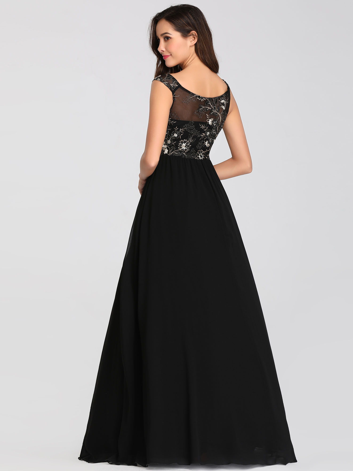 Ever-pretty US Evening Black Party Dress Women A-line ...