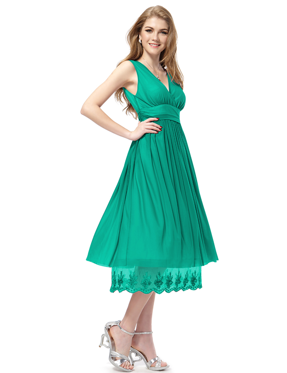 Ever-Pretty Midi Prom Dress Sleeveless Cocktail Party Gown Casual ...