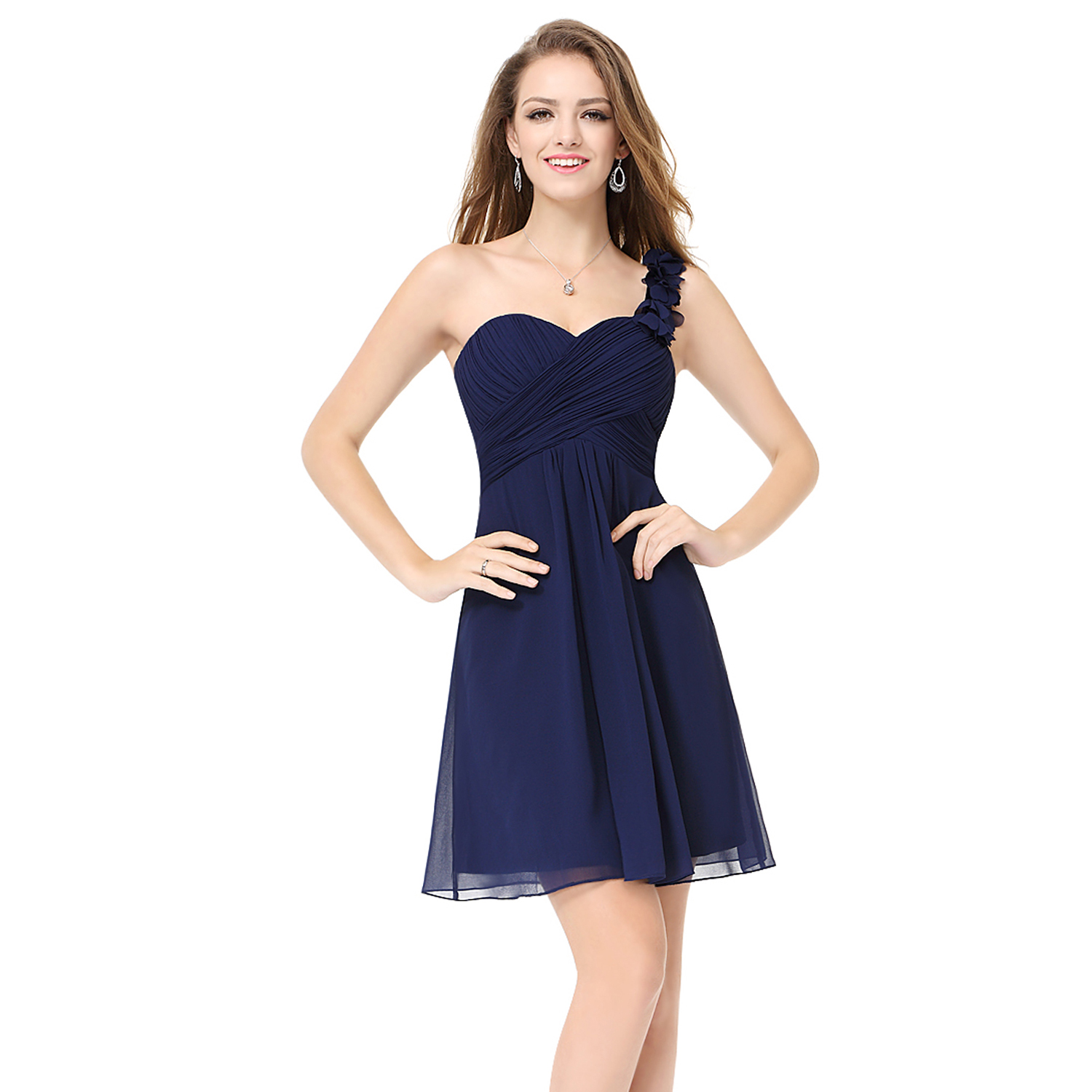 UK Chiffon Cute Short Homecoming Party Dresses Bridesmaid ...