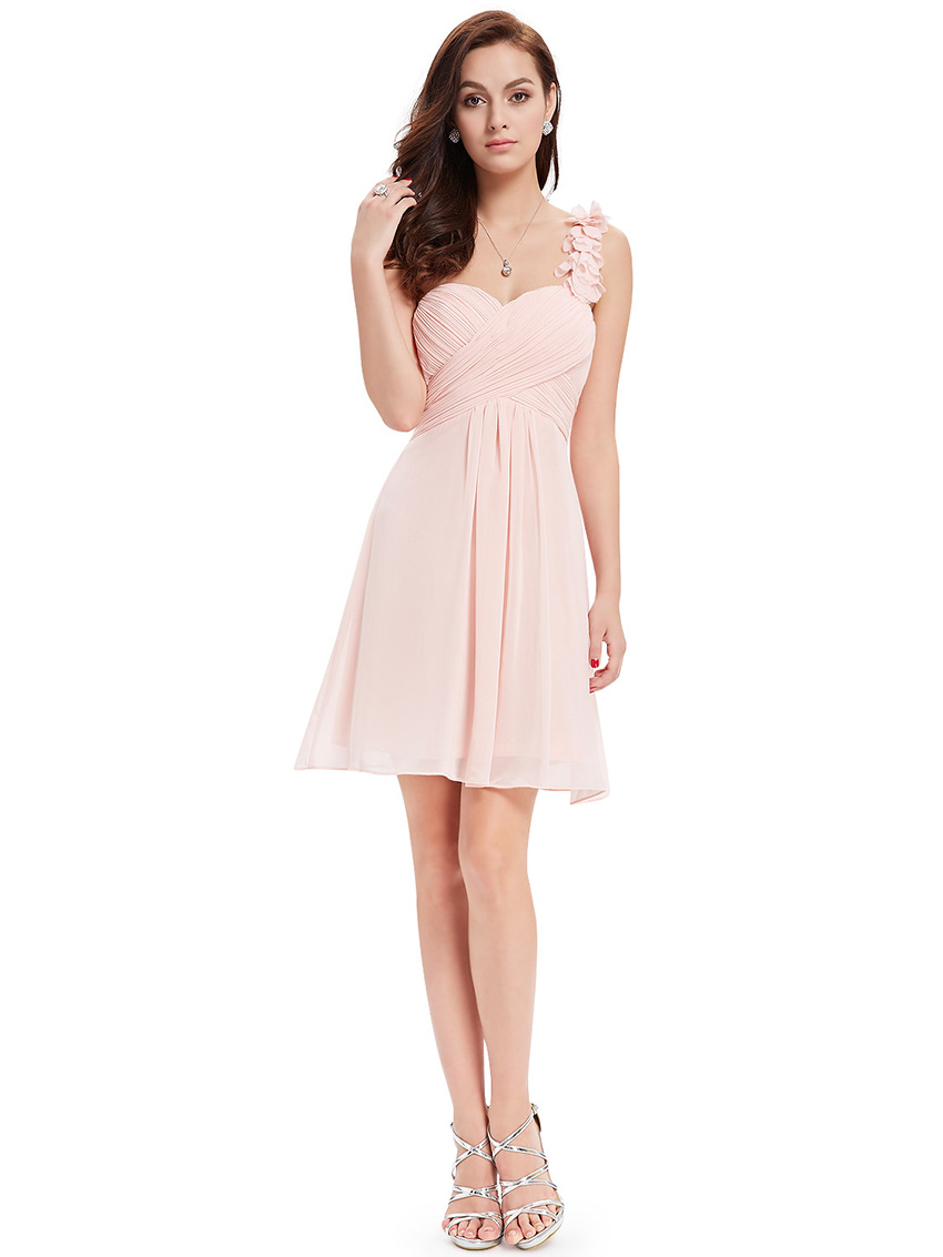 Uk chiffon cute short homecoming party dresses bridesmaid for Short wedding dresses uk only