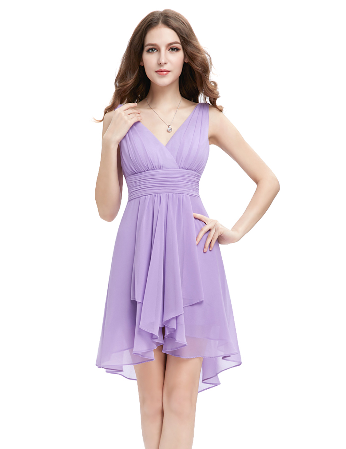 Ever-pretty Women Short Bridesmaid Dress Chiffon Cocktail Party Prom ...