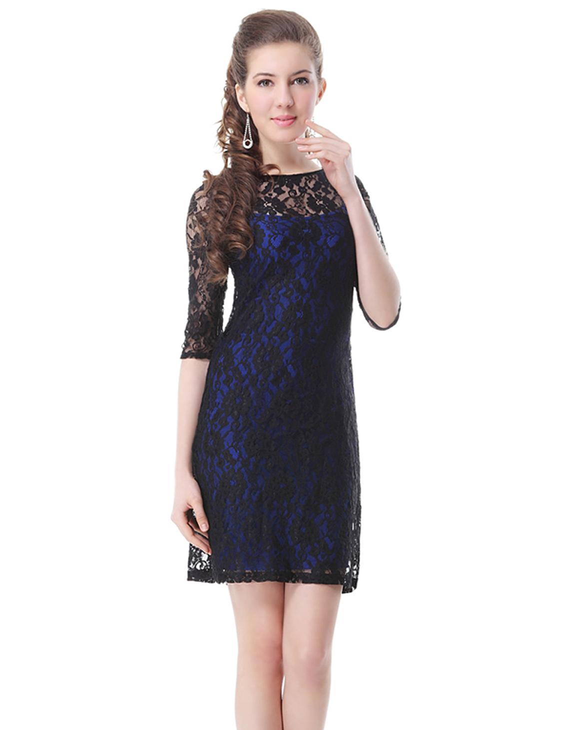 Elegant Short Lace Women\'s Cocktail Party Dresses Casual Dress 03790 ...