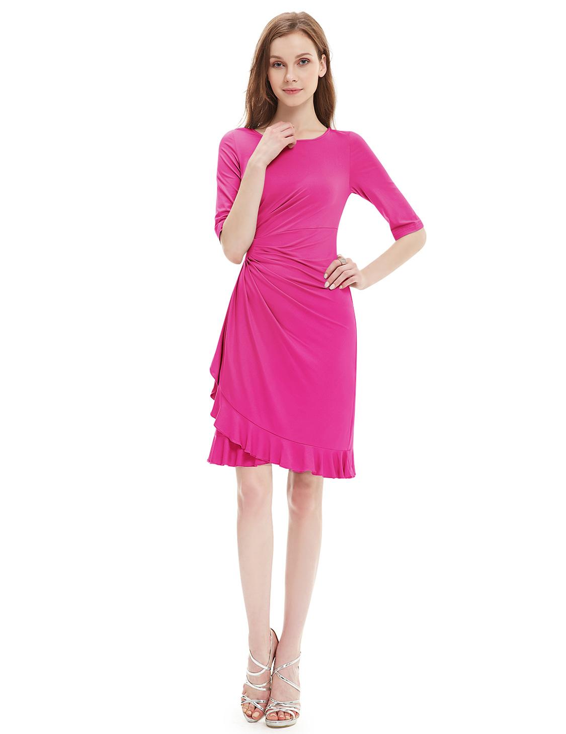 Ever-Pretty Short Formal Evening Dress Hot Pink Size 12 Vovktail ...