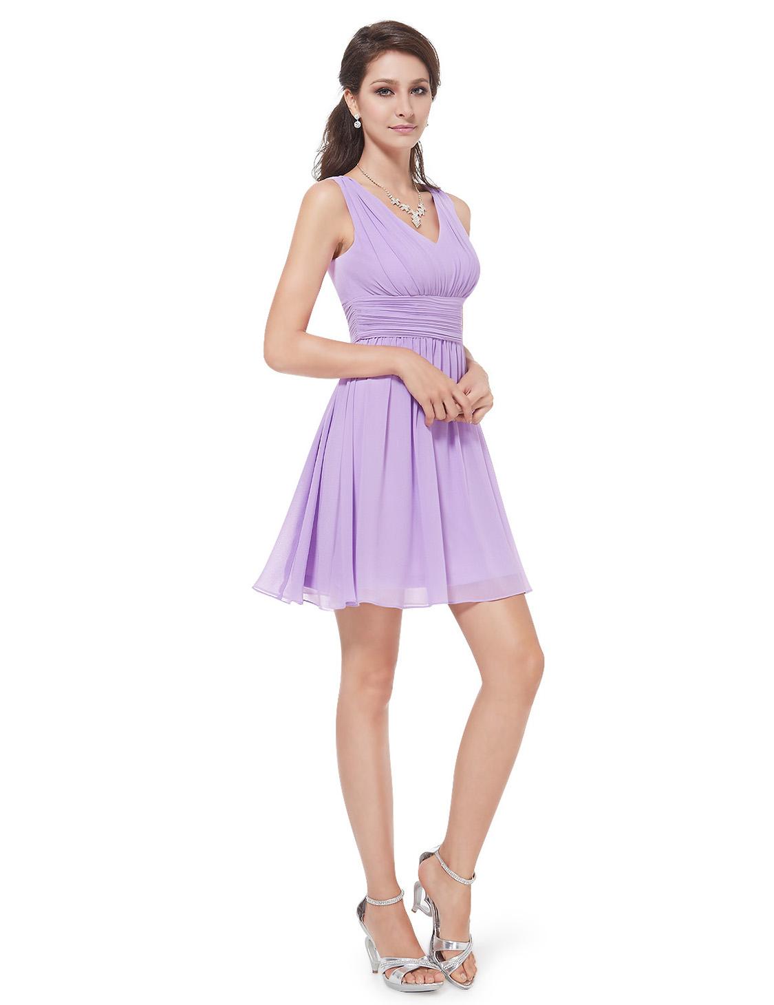 Ever Pretty Elegant Purple Short Party Cocktail Bridesmaid