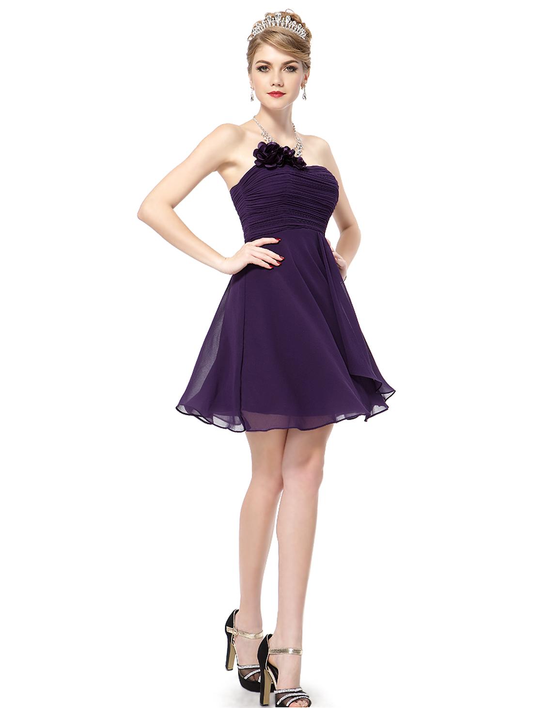 Ever Pretty La s 2016 Purple Short Prom Cocktail Party