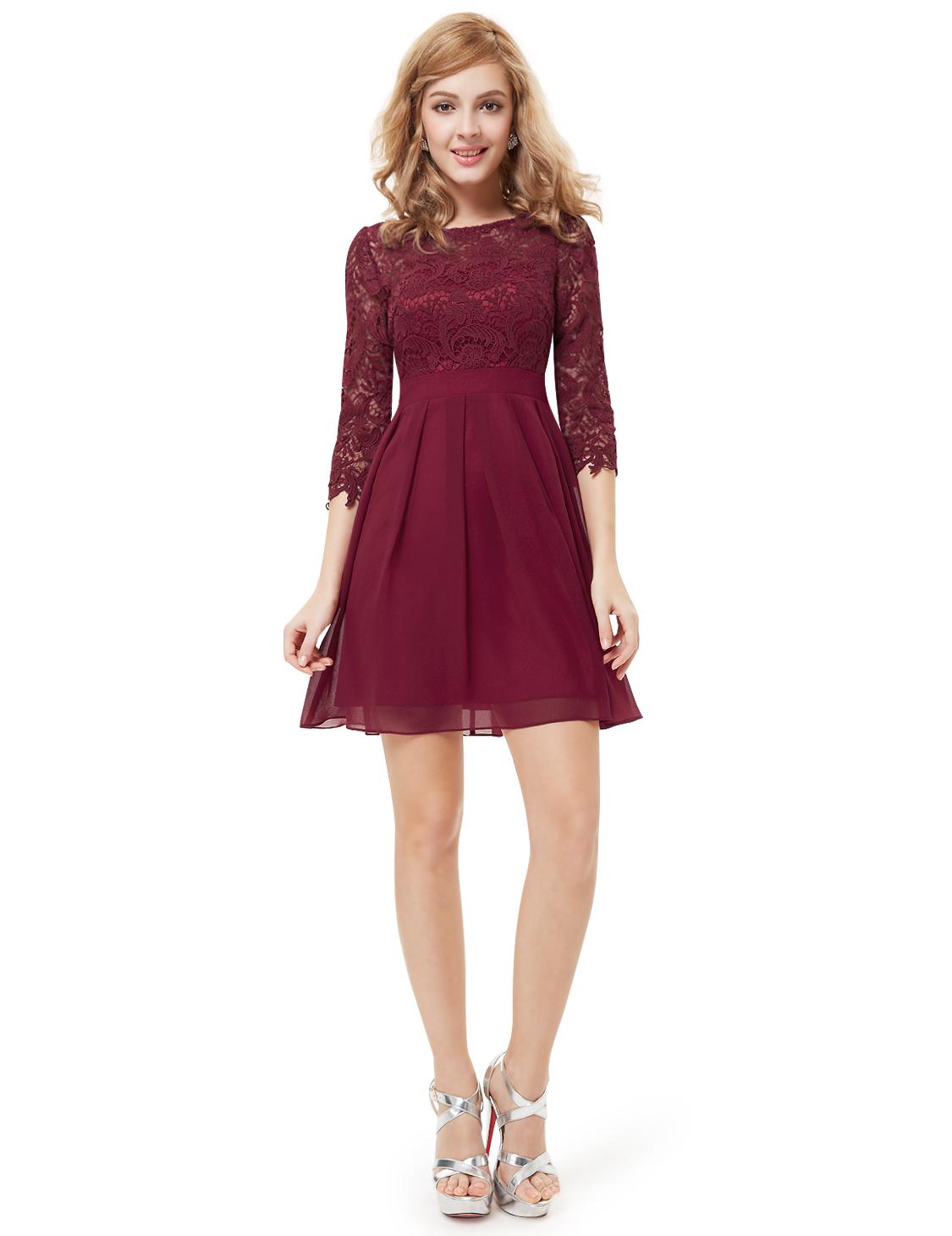 Ever Pretty Ladies Formal Winter Dresses Marsala 3/4 ...