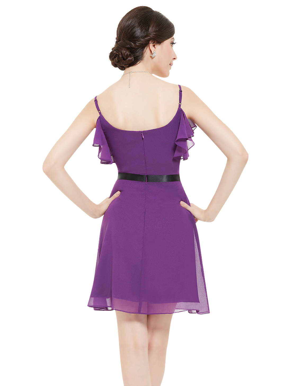 Ever Pretty Women's Fashion Purple Spaghetti Strap Short ...