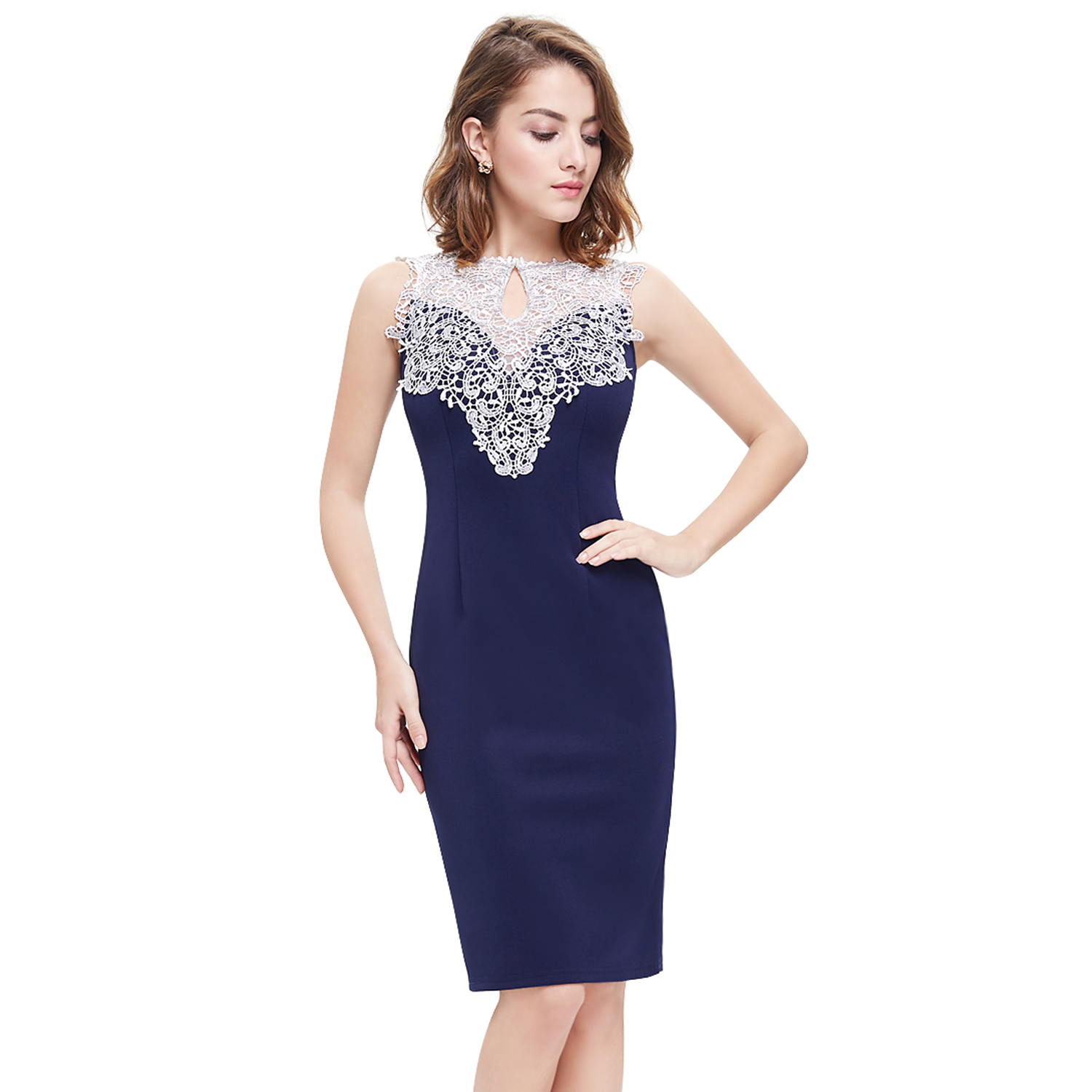 Women\'s Short Lace Cocktail Party DressesClub Casual Prom Bodycon ...