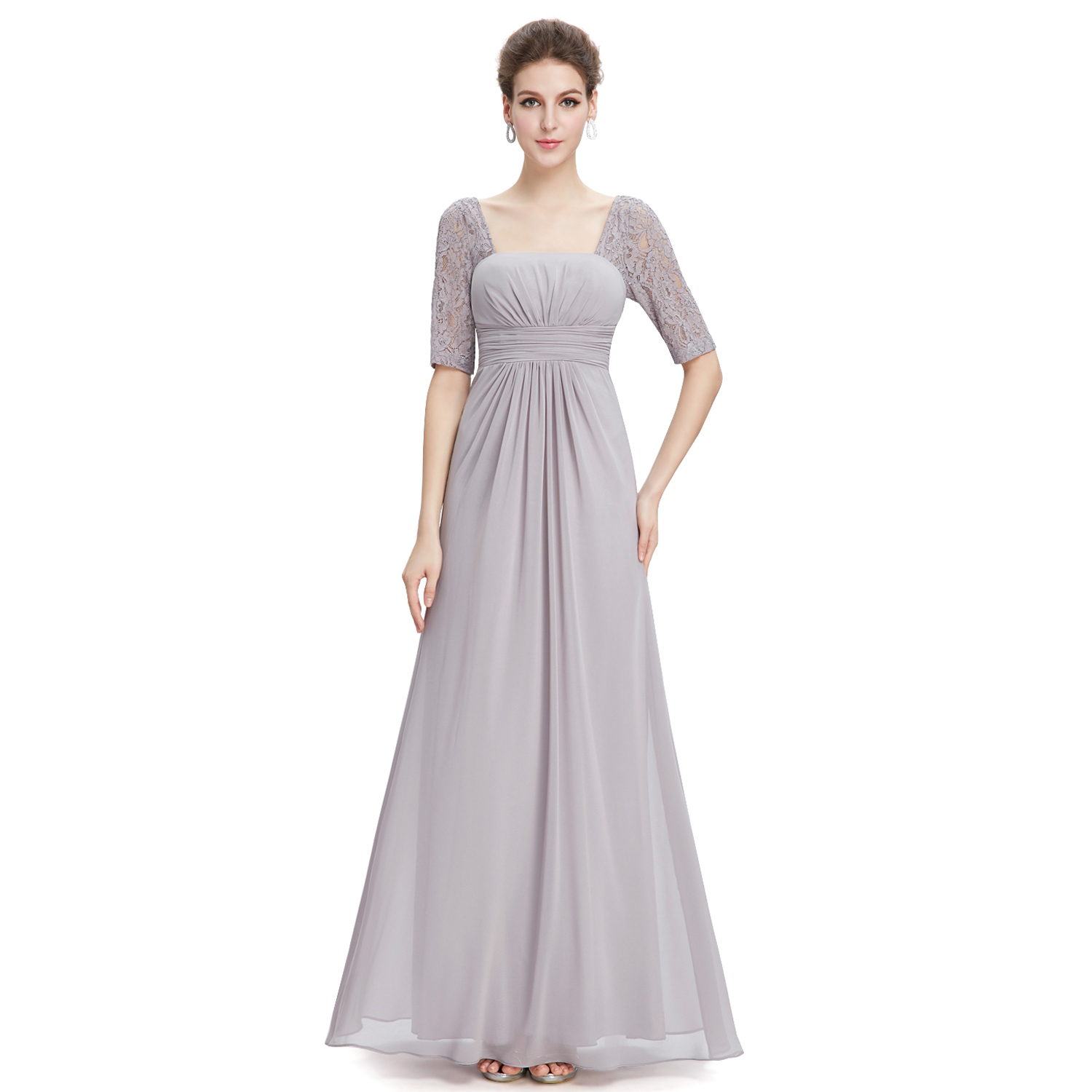 Ever pretty lace long wedding gown short sleeve party bridesmaid picture 12 of 16 ombrellifo Choice Image