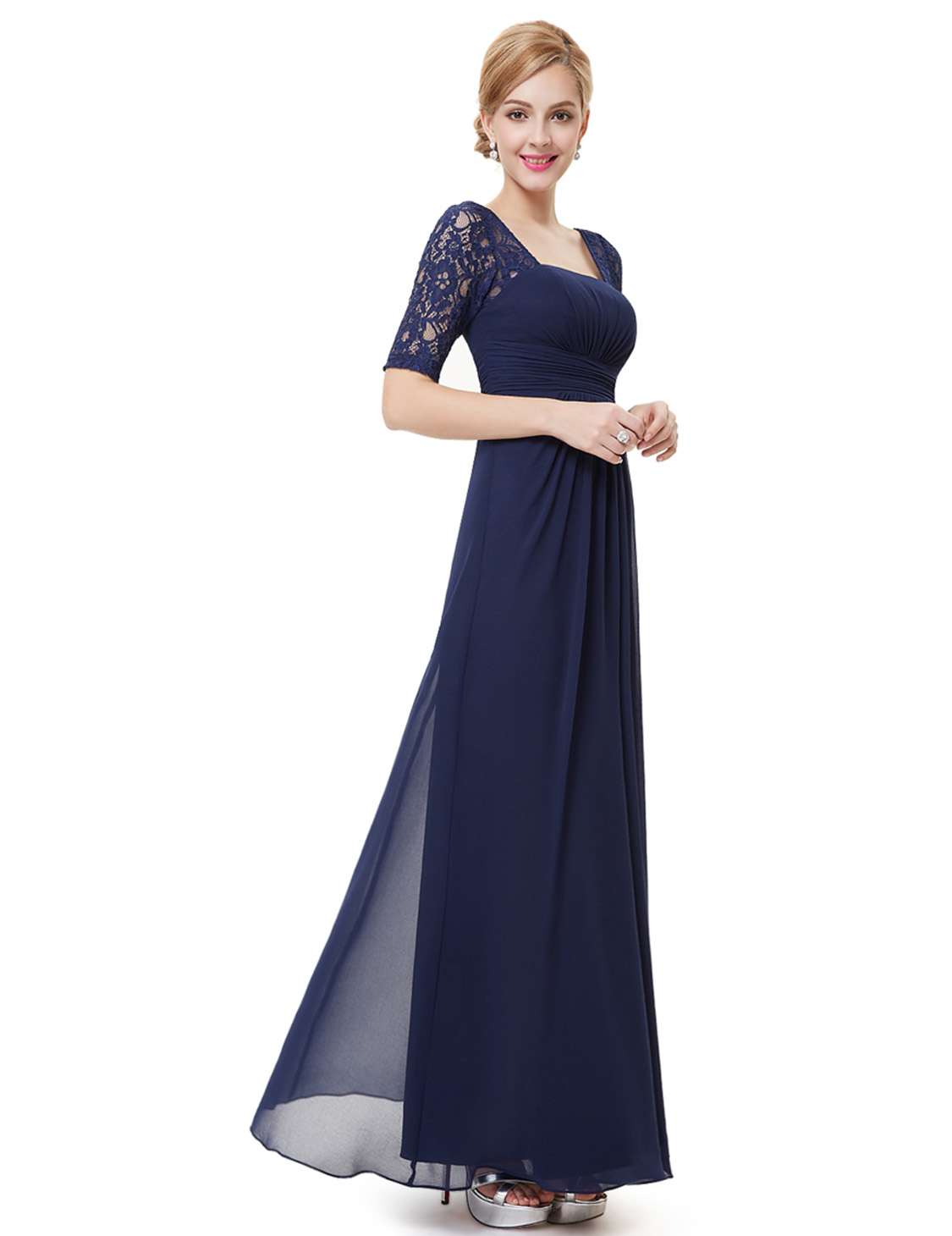 Ever pretty long chiffon cocktail dresses bridesmaid for Ever pretty wedding dresses