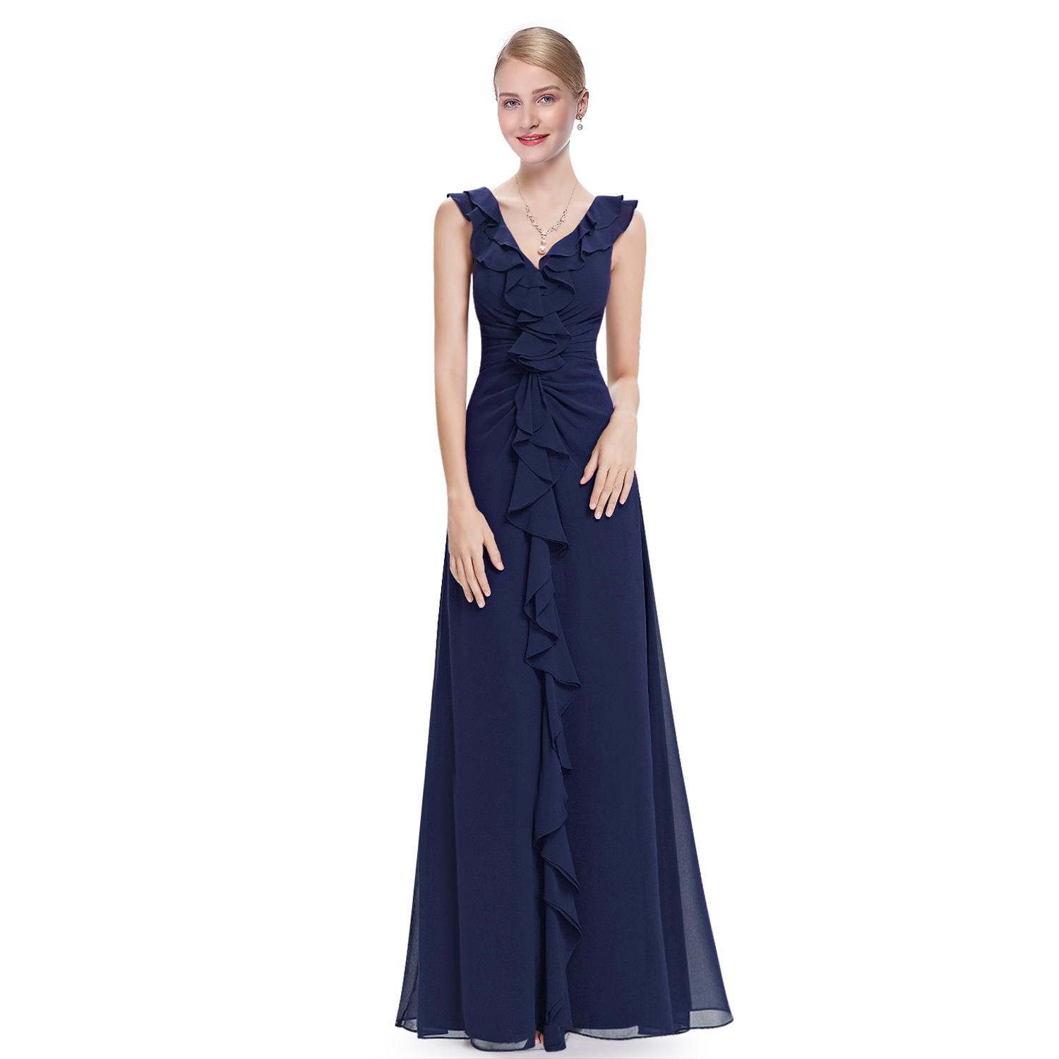 Navy Blue Bridesmaid Formal Ball Gown Party Dress Ever-Pretty 08219 ...