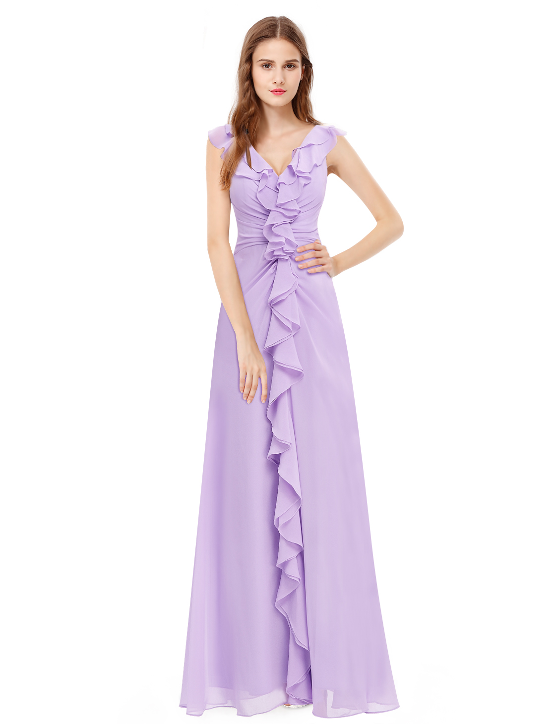 Bridesmaid Formal Ball Gown Party Light Purple Dress Ever-Pretty ...