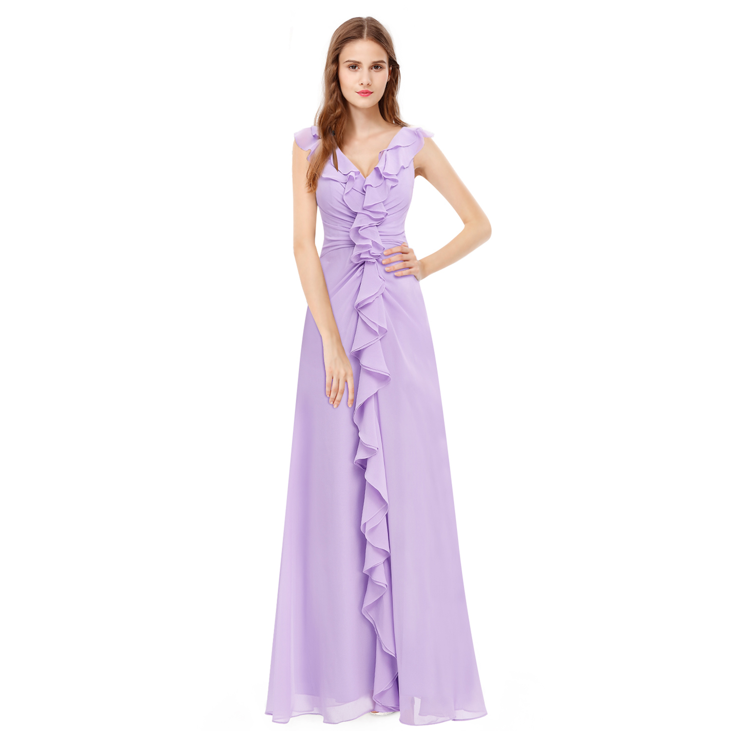 Bridesmaid Formal Ball Gown Party Light Purple Dress Ever ...