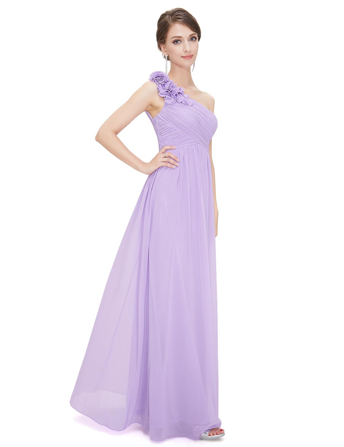 Ever-Pretty Bridesmaid Dresses One Shoulder Chiffon Prom Evening ...