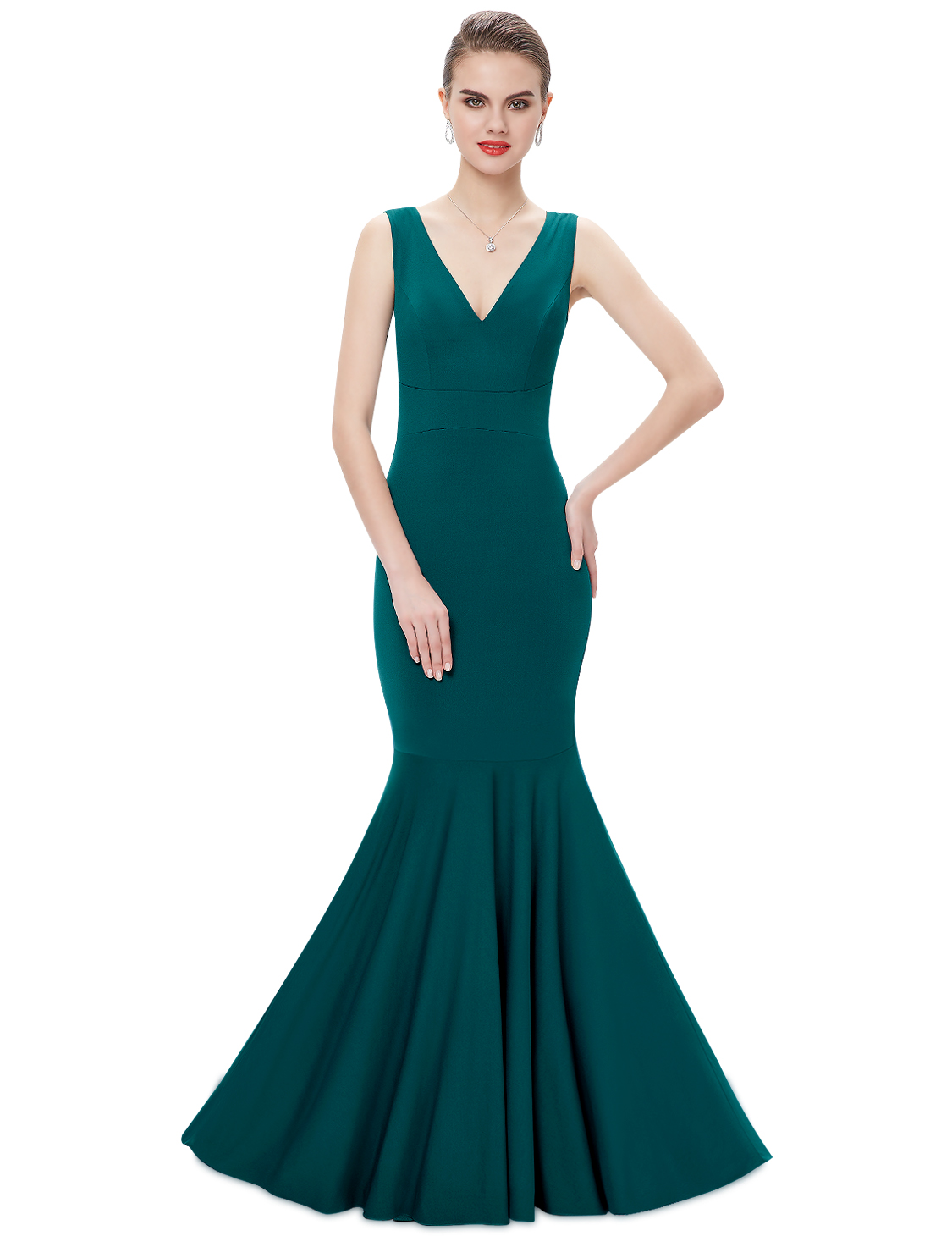 Women\'s Long Mermaid V-neck Formal Evening Party Dresses Prom 08290 ...