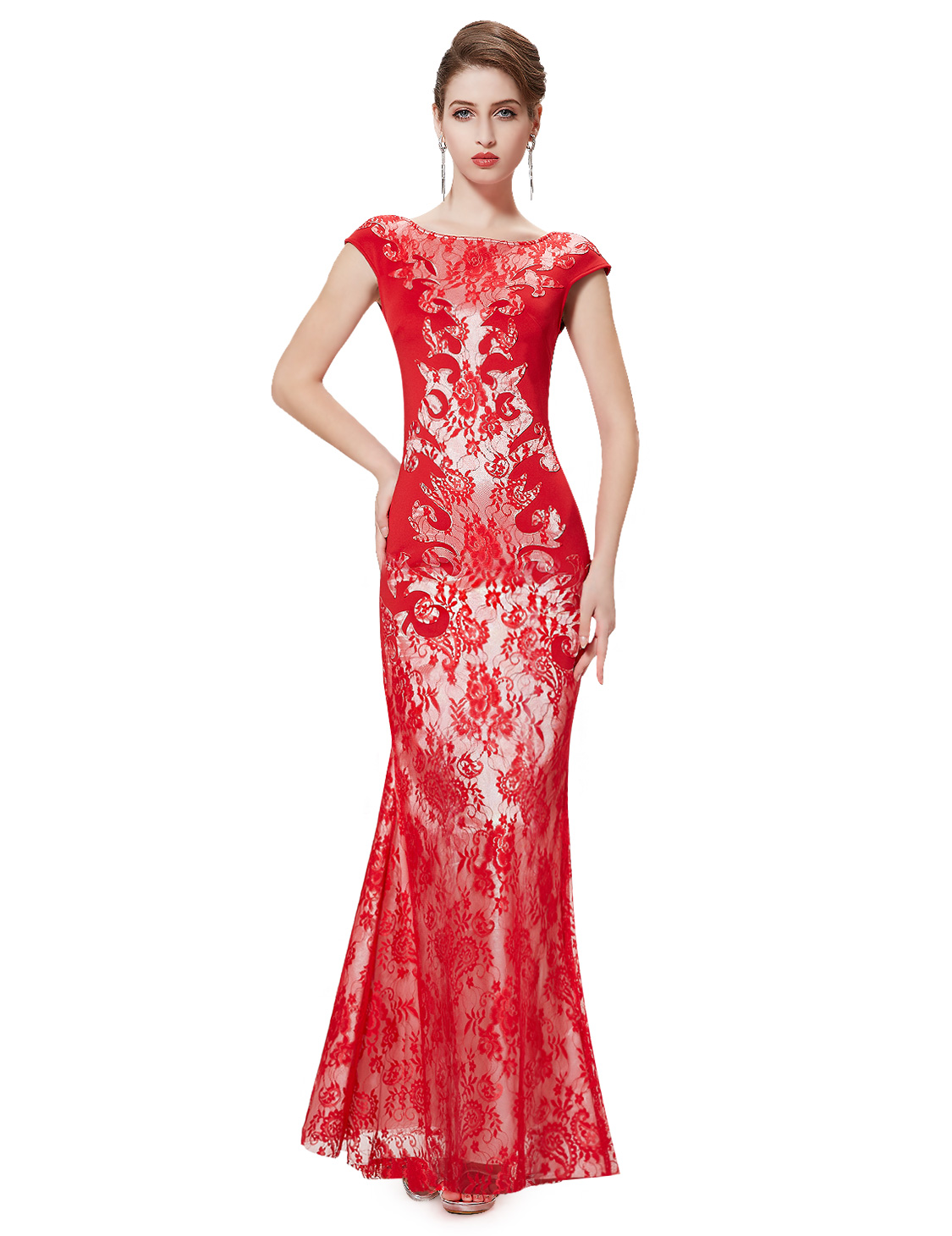 Ever-Pretty Mermaid Party Dresses Lace Formal Evening Gowns Prom ...