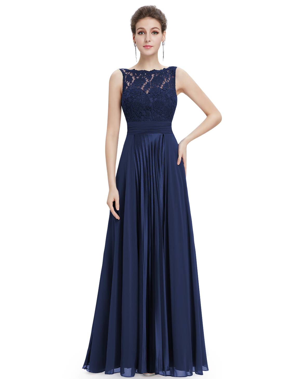Womens lace bridesmaid dresses formal evening prom ball for Ever pretty wedding dresses
