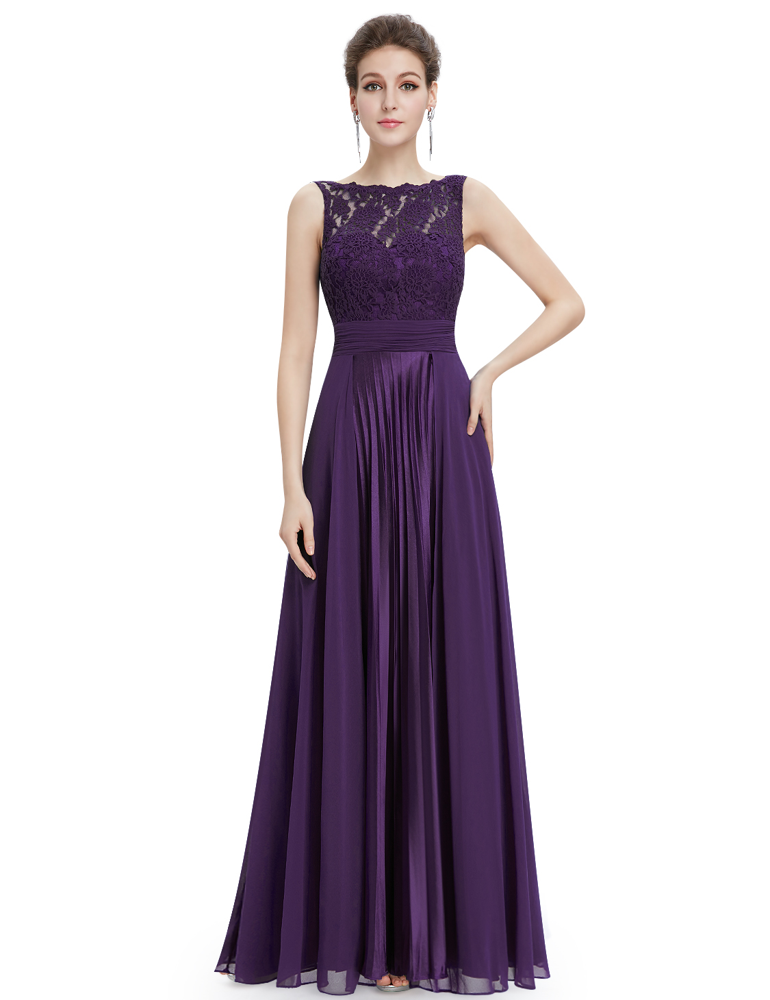 Ever-Pretty Long Formal Bridesmaid Dress Lace Evening Party Cocktail ...
