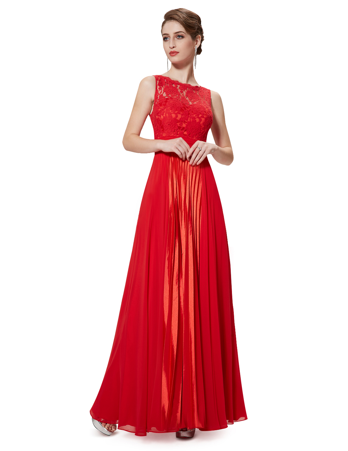 Womens Lace Bridesmaid Dresses Formal Evening Prom Ball Gown 08352