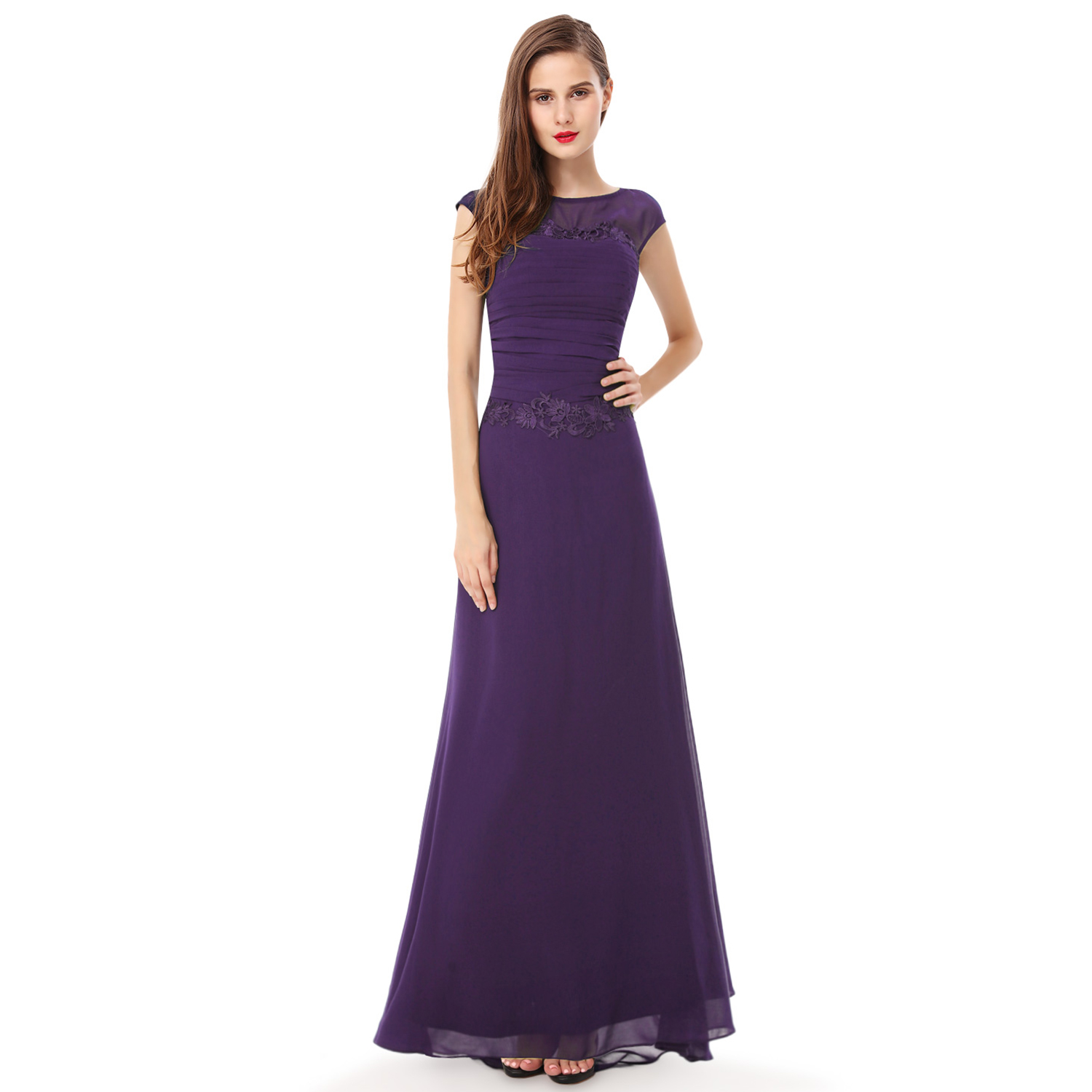 Ever-Pretty Women Long Chiffon Elegant Evening Formal Party Dress ...