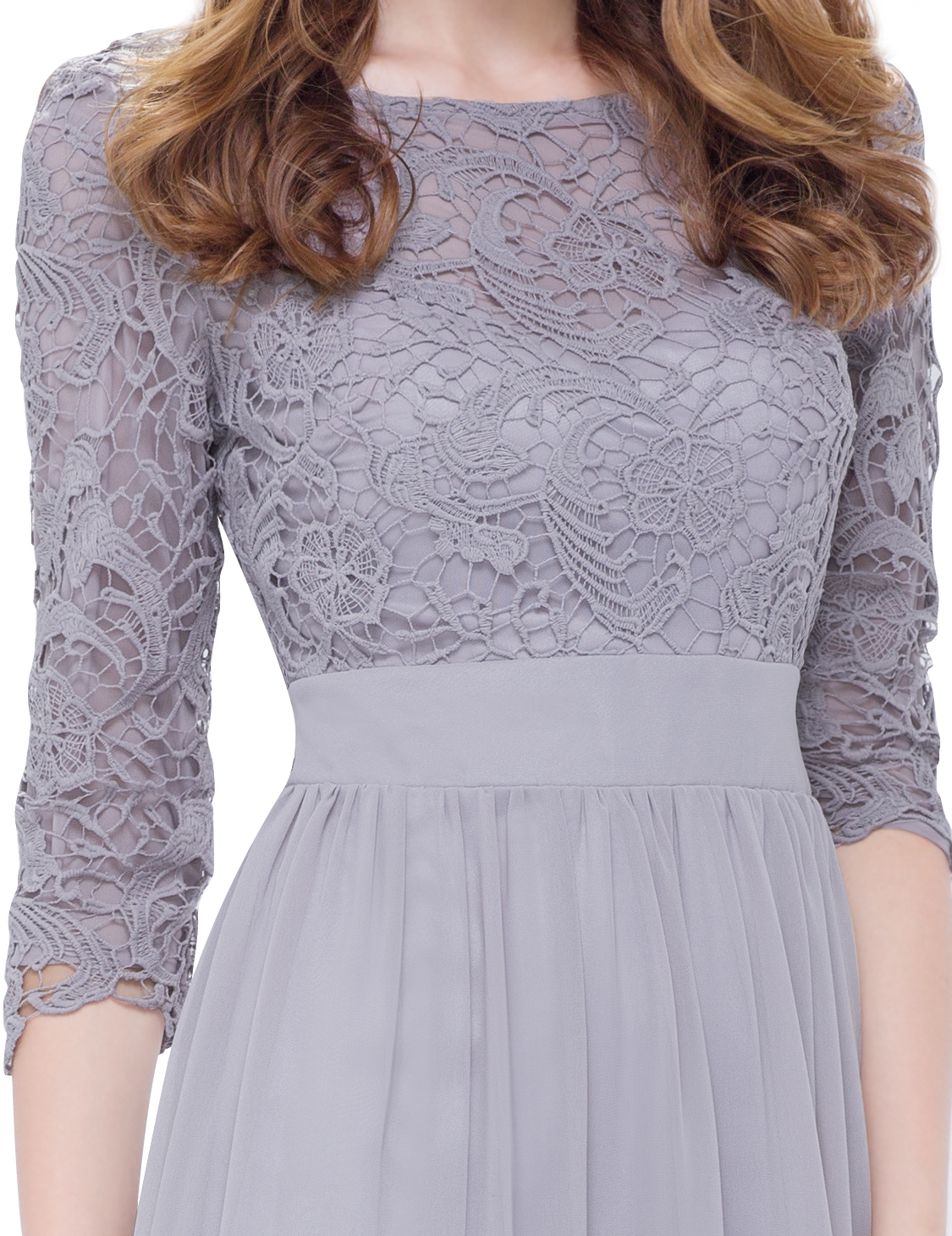 Ever pretty pageant evening dresses long sleeve lace gown for Ever pretty wedding dresses